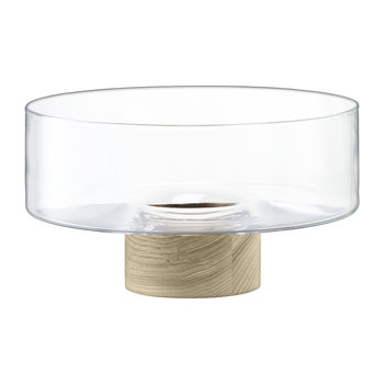 Lotta Pedestal Bowl - Clear/Ash