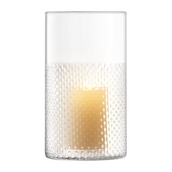 Vase/Lanterne Wicker - Transparent