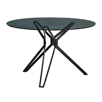 Round Glass Table - Black
