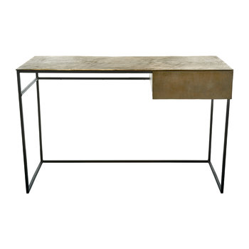 Antique Shine Desk Frame - Brass