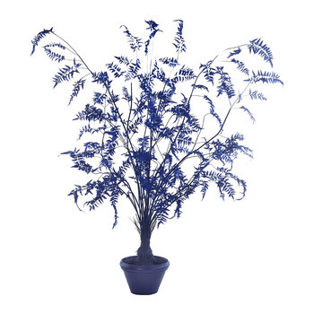 Fern in Pot - Large - Dark Blue