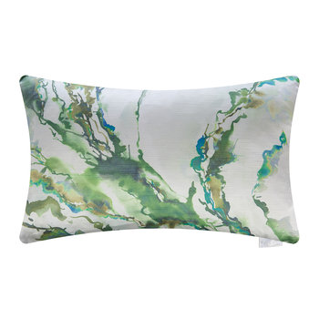Ink Abstraction Cushion - 40x60cm - Forest