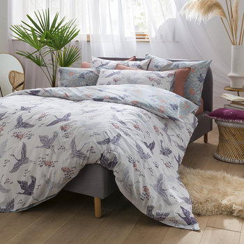 Floral Flight Duvet Cover - Iris