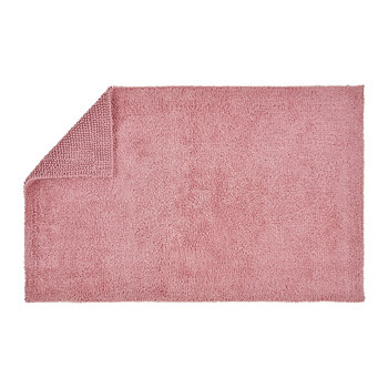 Reversible Rug Bath Mat - Blush