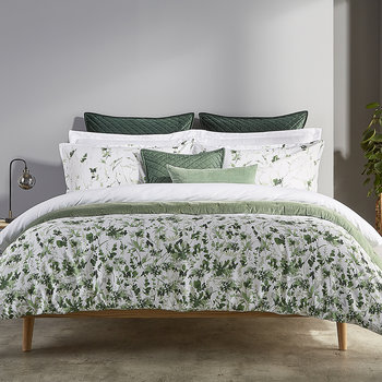 Leaf Fronds Quilt Set - Green