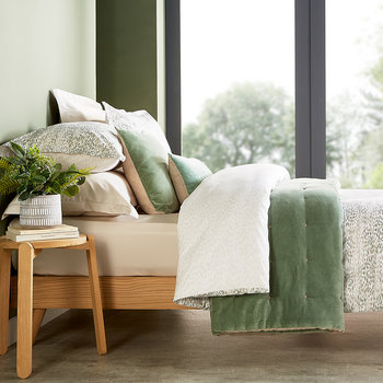 Giverny Quilt Set - Jade