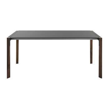 Tango Extendable Dining Table - Walnut/Black