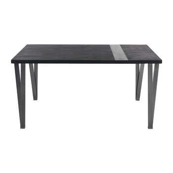 Ma.re Dining Table - Mocha Ash/Black