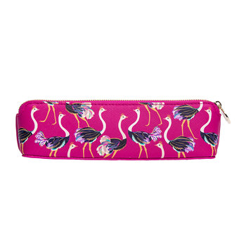 Pink Ostrich Pencil Case - Small