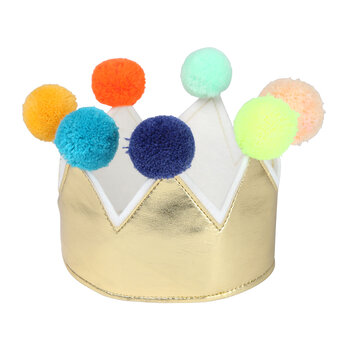 Gold Pom Pom Crown