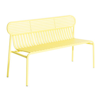 Filaire Outdoor Bench - Yellow