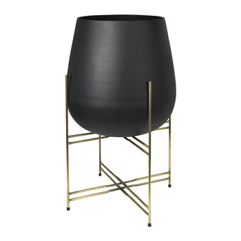 Hege Flowerpot with Stand - Black