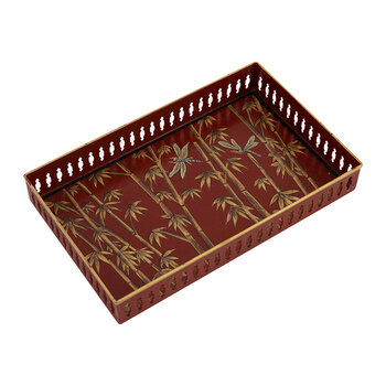 Hand Painted Chinoserie Tray - Rectangular