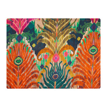 Matthew Williamson Cotton Placemat - Peacock Feather