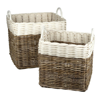 Kobu Basket - Set of 2 - White/Grey