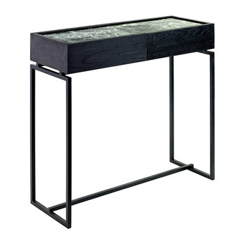 Marble Console with Drawer - Green