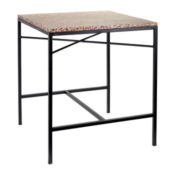 Terazzo Side Table - Brown