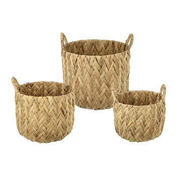 Chevron Woven Basket - Set of 3