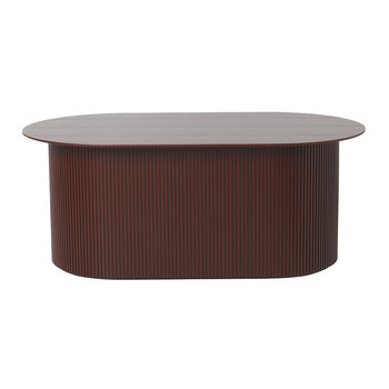 Oval Podia Table - Red Brown