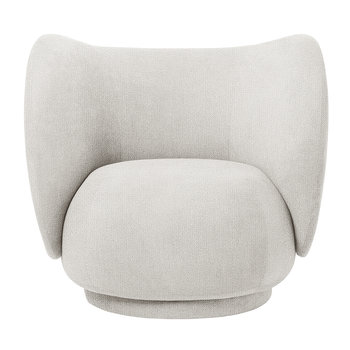 Rico Boucle Lounge Chair - Off White