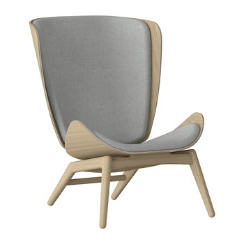 The Reader Wing Chair - Oak - Silver Grey