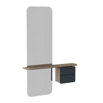 One More Look Mirror - Oak - Anthracite Grey