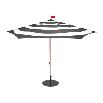 Stripe Parasol with Base - Anthracite