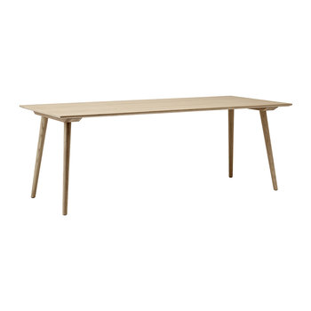 In Between Rectangle Dining Table - Clear Lacquered
