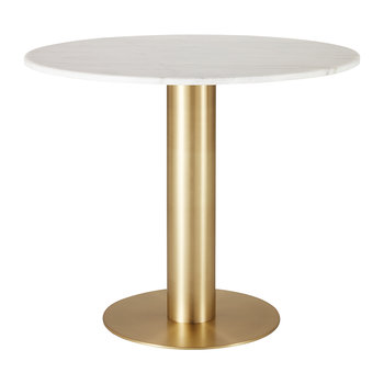 Tube Dining Table - Brass