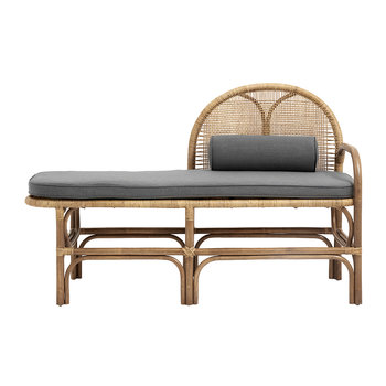 Rattan Bench with Mattress