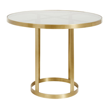 Round Display Table - Golden/Black