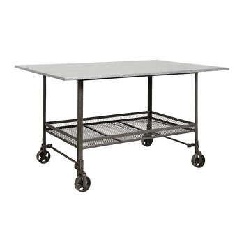 Industrial Table with Wheels - Iron