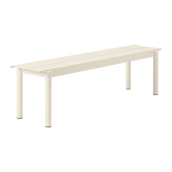 Linear Steel Bench - White