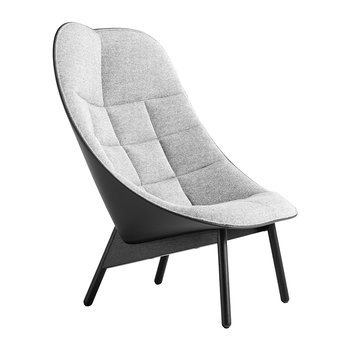 Uchiwa Quilted Armchair - Grey/Black