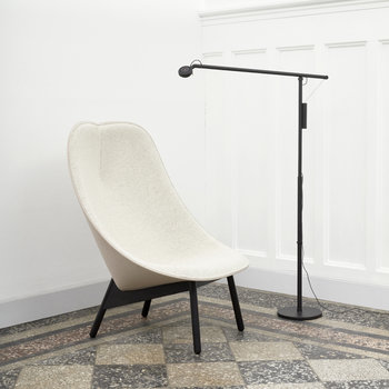 Uchiwa Quilted Armchair - Ivory/Black