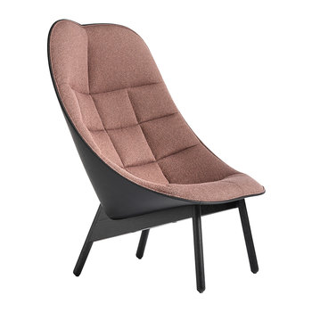 Uchiwa Quilted Armchair - Dusty Pink/Black