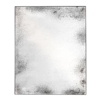 Heavy Aged Square Mirror - Clear