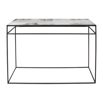 Heavy Aged Mirror Console - Clear
