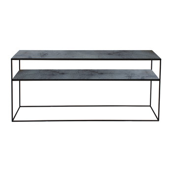 Heavy Aged Mirror Sofa Console - Charcoal
