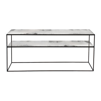 Heavy Aged Mirror Sofa Console - Clear