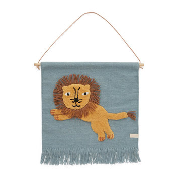 Jumping Lion Wallhanger