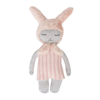 Hopsi Bunny Doll - Light Grey/Rose