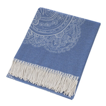 Salazar Raja Fringed Throw - 140x180cm - Blue