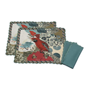 Salazar Lesaro Placemat and Napkin - Set of 2 - Multi