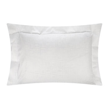 Lenzuola Monogram Flat Sheet and Pillowcase Set - Ivory
