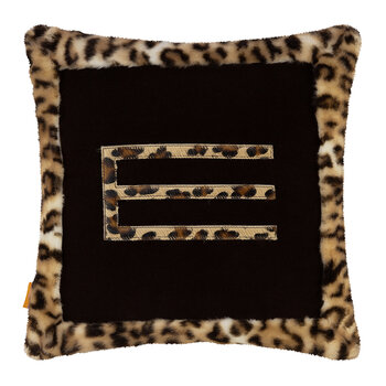 Leo Cushion with Edge - Brown