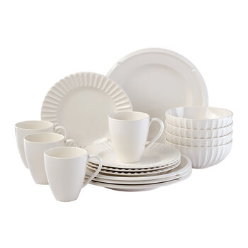 Tribeca 16 Piece Dinner Set - Cream