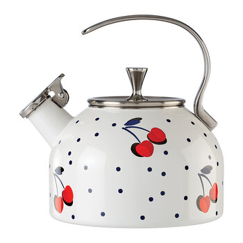 Vintage Cherry Dot Tea Kettle