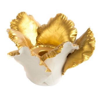 Daffodil Candle Holder - Ivory/Gold