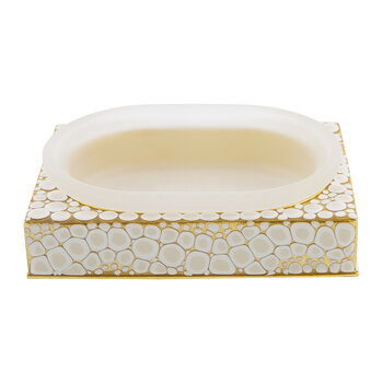 Proseco Soap Dish - Oatmeal/Gold